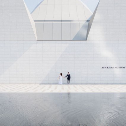 Aga Khan Museum featured in Emily and Mark's Sweet Doctor's House Wedding