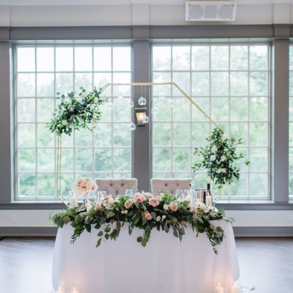 A Lavish Affair featured in Emily and Mark's Sweet Doctor's House Wedding