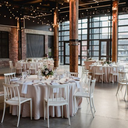 Steam Whistle Brewery featured in Daniela and Andrei's Sweet Wedding at Steam Whistle Brewery