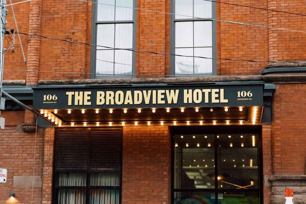 the very first wedding open house at the broadview hotel, 1