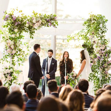 Magen Boys Entertainment featured in Jana and Jeremy's Modern-Chic Wedding at Ricarda's