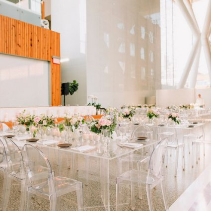 Divine Furniture Rentals featured in Jana and Jeremy's Modern-Chic Wedding at Ricarda's