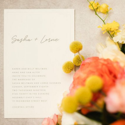 Paperdoll Studio featured in Sasha and Lorne's Colourful Wedding at Assembly Chef's Hall