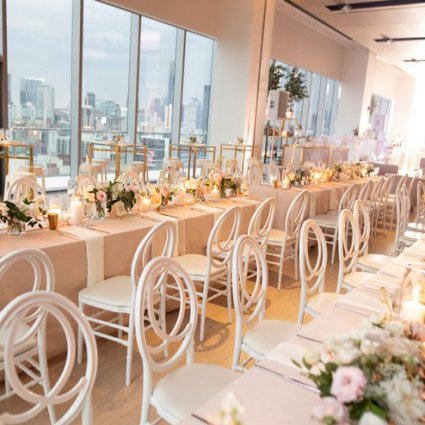 Detailz Couture Event Rentals featured in Courtney and Aaron's Glam Wedding at the Globe and Mail Centre