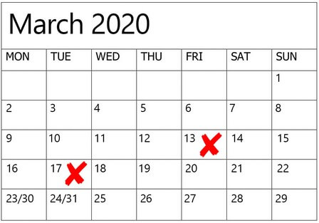 dates to avoid for weddings in 2020 2021, 4