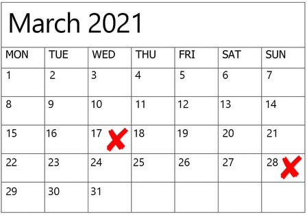 dates to avoid for weddings in 2020 2021, 5