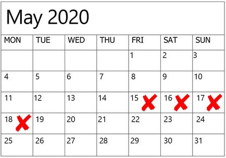 dates to avoid for weddings in 2020 2021, 8