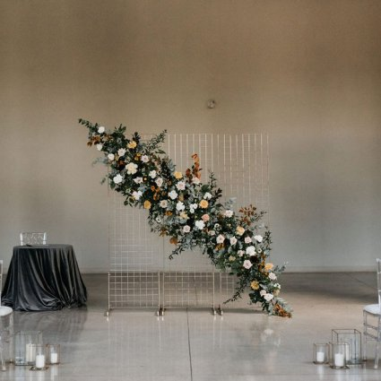As You Wish Weddings featured in Courtney and Tyler's Gorgeous Fall Wedding at the Symes