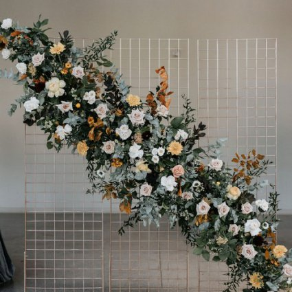 Simply Beautiful Decor featured in Courtney and Tyler's Gorgeous Fall Wedding at the Symes