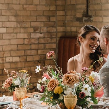 A Rustic-Chic Style Shoot Turned Intimate Elopement at Balzac's Powerhouse