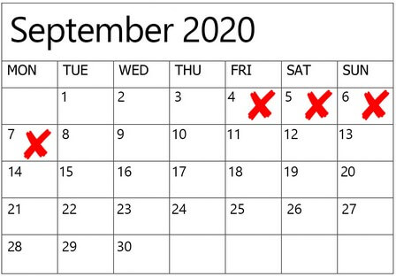 dates to avoid for weddings in 2020 2021, 9