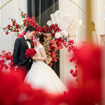 """Flowers Time featured in Jenny and David's """"Old Shanghai"""" Themed Wedding at the St. Regis"""