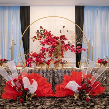 """Linen Closet featured in Jenny and David's """"Old Shanghai"""" Themed Wedding at the St. Regis"""