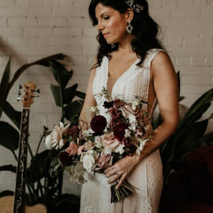 Rikki Marcone Floral & Event Design featured in Tanya and Derrick's Sweet Wedding at District 28