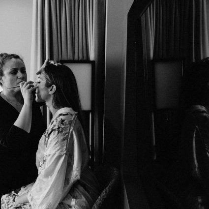The Beauty Team featured in Cammie and Ryan's Romantic Summer Wedding at Archeo