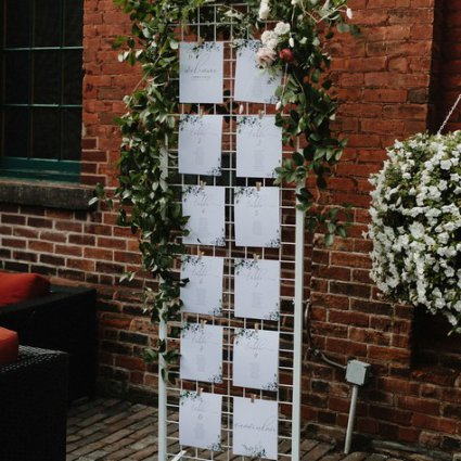 BLUUMBLVD Floral & Events featured in Cammie and Ryan's Romantic Summer Wedding at Archeo