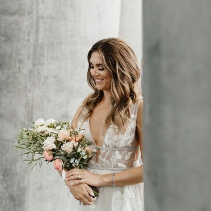 Becker's Bridal featured in Cammie and Ryan's Romantic Summer Wedding at Archeo