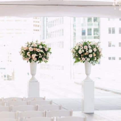 Lexington & Co. featured in Emily and Tony's Summer Malaparte Wedding