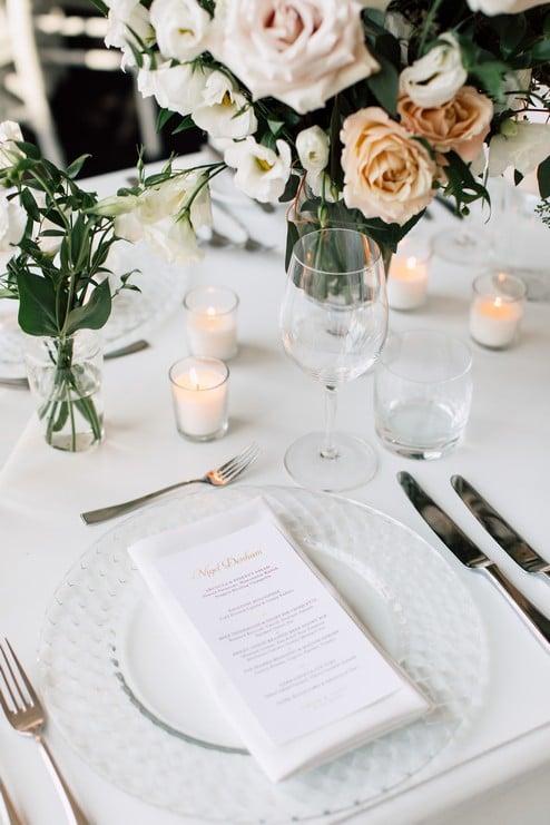 table setting Summer Malaparte Wedding