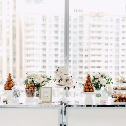Finespun Cakes & Pastries featured in Emily and Tony's Summer Malaparte Wedding