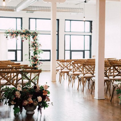 Divine Furniture Rentals featured in Christine and Noah's Romantic Toronto Wedding at the Burroughes