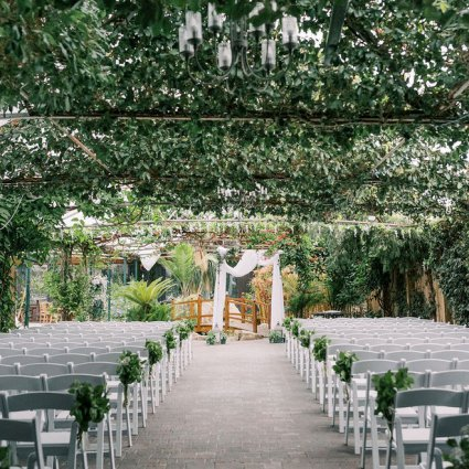 The Madison Greenhouse Event Venue featured in Olivia and Colin's Breathtaking Wedding at the Picturesque Ma…