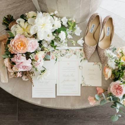 Paper & Poste featured in Caroline and JP's Modern and Trendy Hotel X Wedding