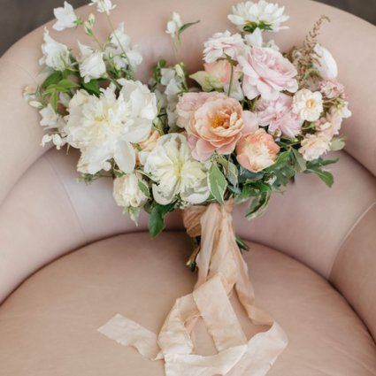 Wild North Flowers featured in Caroline and JP's Modern and Trendy Hotel X Wedding