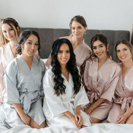 Jen Evoy Makeup Studio featured in Andrea and Erik's Elegant Wedding at King's Riding Golf Club