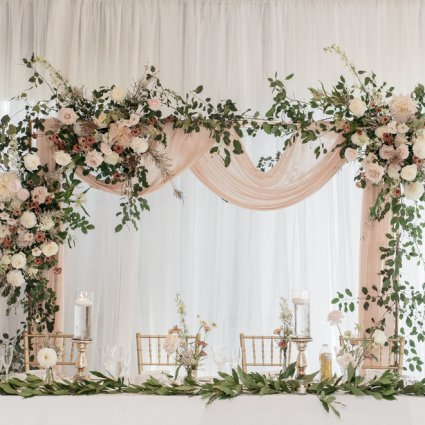 Hunt and Gather featured in Andrea and Erik's Elegant Wedding at King's Riding Golf Club