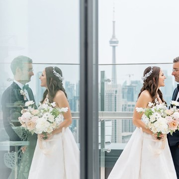 Caroline and JP's Modern and Trendy Hotel X Wedding