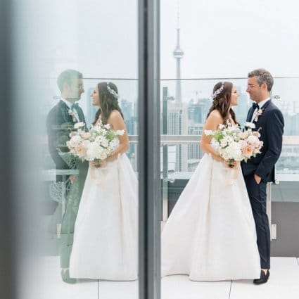 Hotel X Toronto featured in Caroline and JP's Modern and Trendy Hotel X Wedding