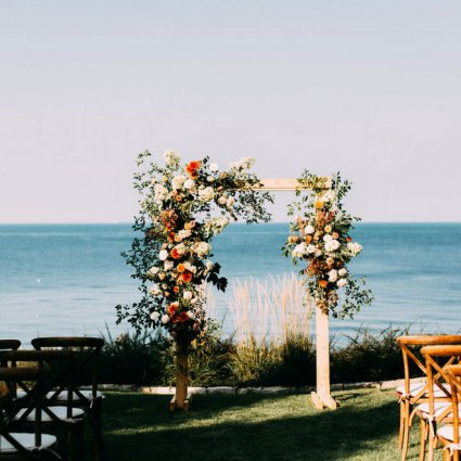 Threads and Blooms featured in Jenna and Trevor's Gorgeous Backyard Wedding