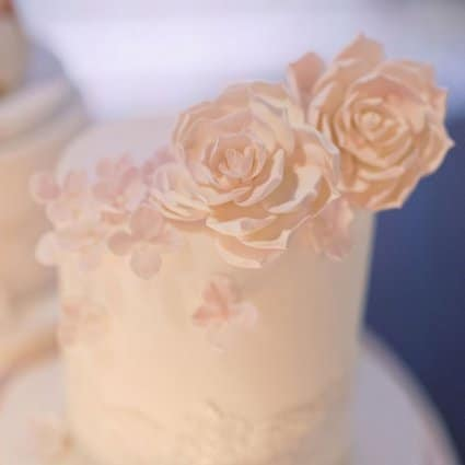 Patricia's Cake Creations featured in Shari and Antonio's Luxe Wedding at York Mills Gallery