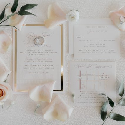 The Polka Dot Paper Shop featured in Peren and Erdem's Sweet Eagles Nest Golf Club Wedding