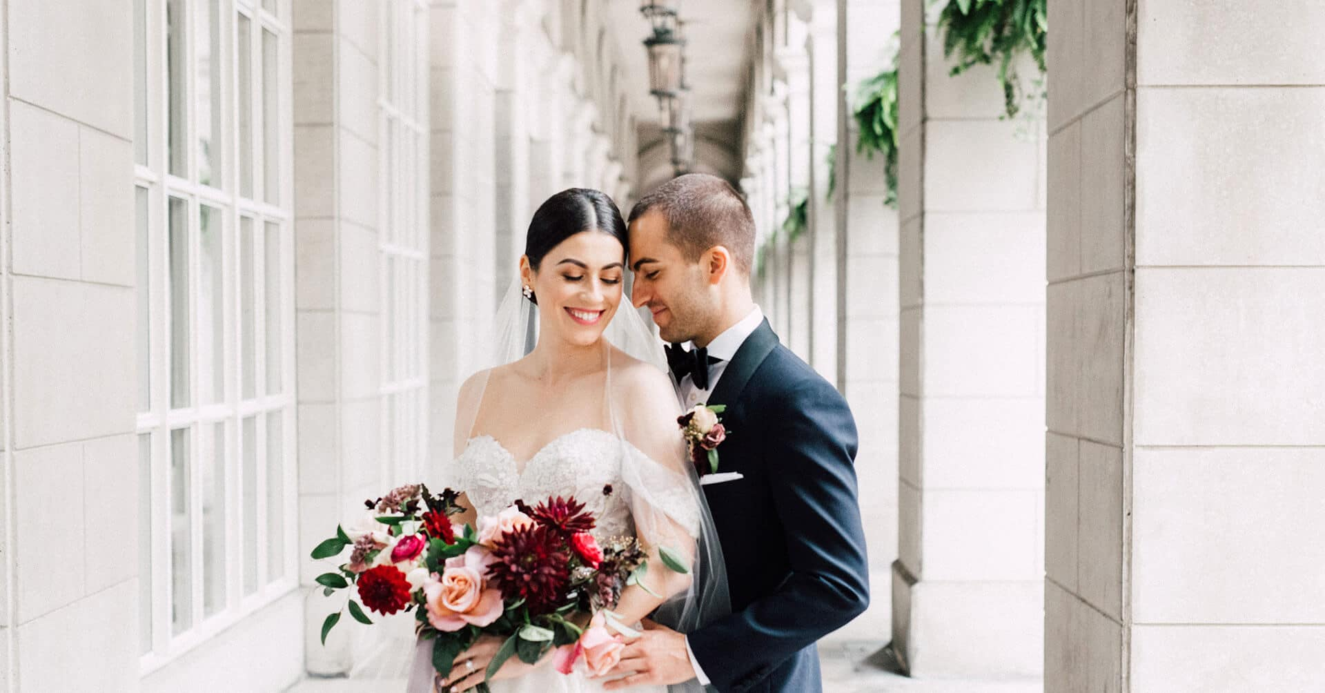 Hero image for Christine and Noah's Romantic Toronto Wedding at the Burroughes
