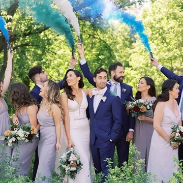 Kayla and Mike's Blue-and-White Wedding at the Symes