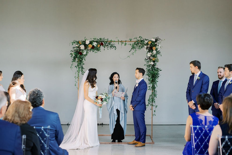 Blue-and-White Wedding