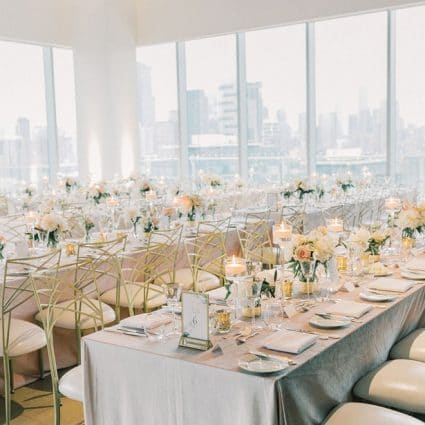Cool, Green & Shady featured in Anna and Paul's Luxurious Wedding at the Globe and Mail Centre