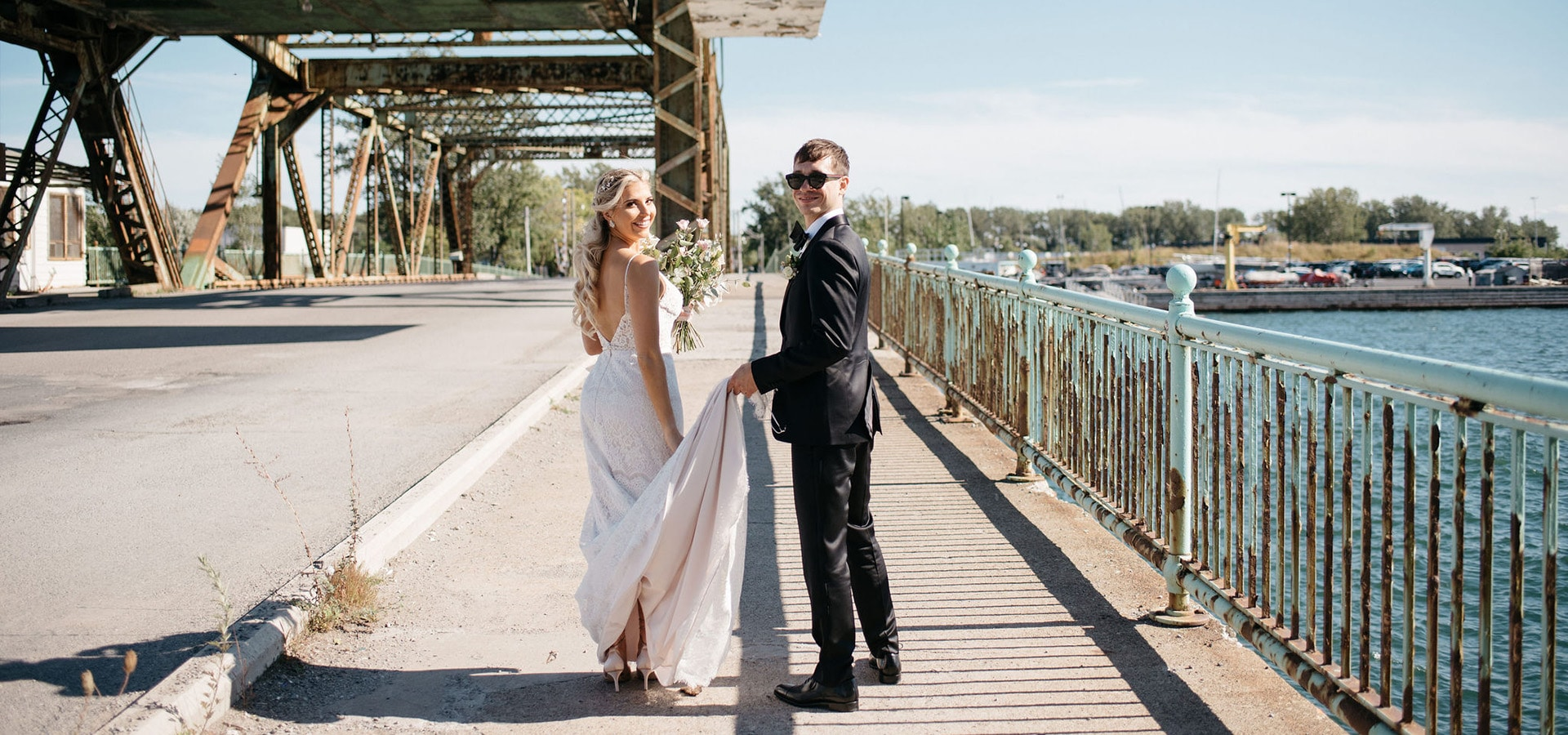 Hero image for Caslon and Nick's Playful and Romantic Wedding at District 28