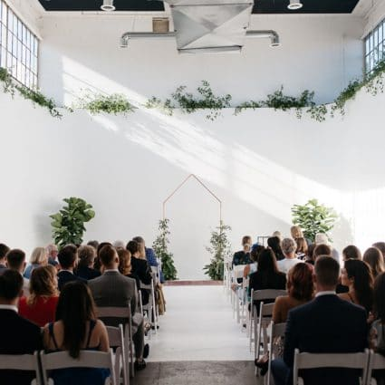 The Event Design Co. featured in Caslon and Nick's Playful and Romantic Wedding at District 28