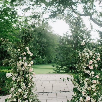 Blush and Bloom featured in Sarah and Damian's European Style Wedding at Magna Golf Club