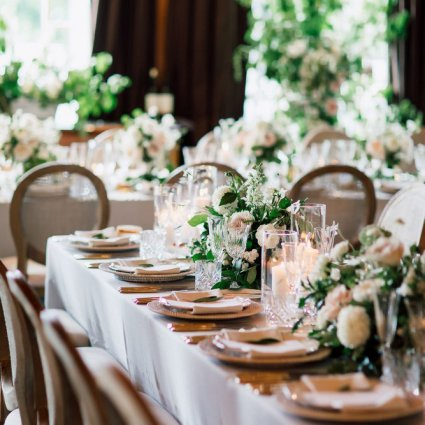 Plate Occasions featured in Sarah and Damian's European Style Wedding at Magna Golf Club