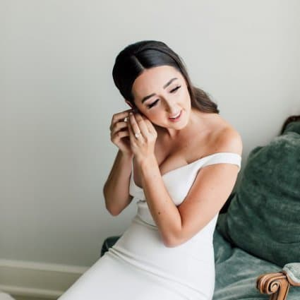 Jen Evoy Makeup Studio featured in Sarah and Damian's European Style Wedding at Magna Golf Club