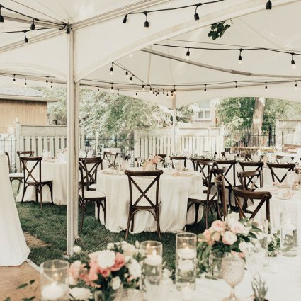 Party With Chloe featured in Esther and David's Romantic Backyard Wedding