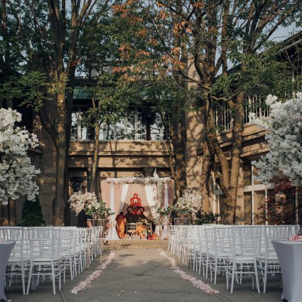 Liberty Grand Entertainment Complex featured in Nadia and Tushar's Stunning and Bold Celebration at Liberty G…