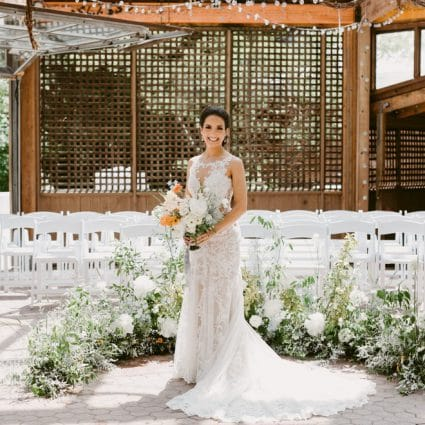 Kortright Eventspace featured in Susana and Mark's Intimate Fall Wedding at Kortright Eventspace