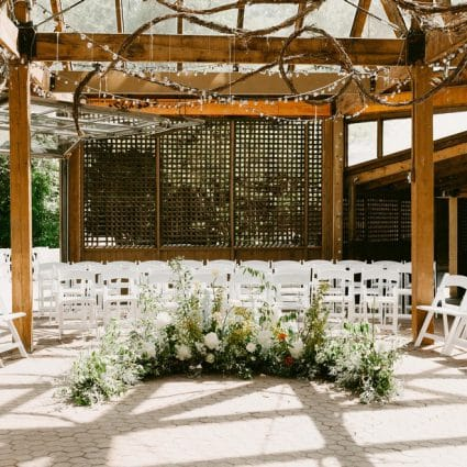 Wild North Flowers featured in Susana and Mark's Intimate Fall Wedding at Kortright Eventspace