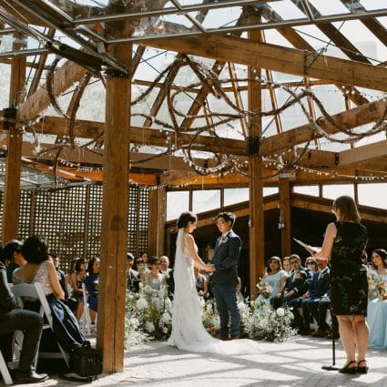 Bespoke Ceremonies featured in Susana and Mark's Intimate Fall Wedding at Kortright Eventspace