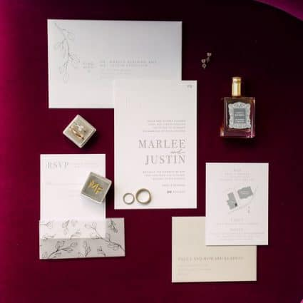 Raquel Walman Creative Studio featured in Marlee and Justin's Sophisticated Wedding at Hotel X Toronto